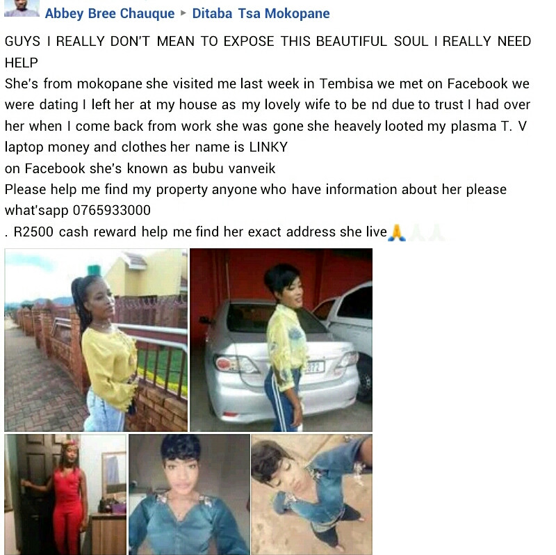 Man offers cash reward to who finds a lady