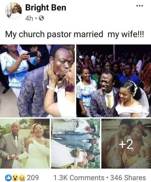 Pastor marrying church member's wife