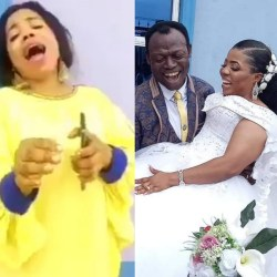 """See Tina Adeeyo celebrating her """"papa"""", Pastor Moses Adeeyo, in an old video before she left her husband to marry him"""