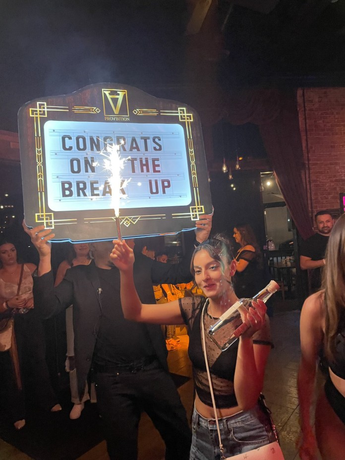 Woman goes to the club to celebrate breaking up with her ex in style