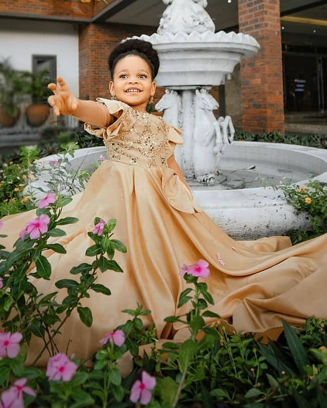 Actress Queen Nwokoye shares adorable photos of her daughter who turns three today