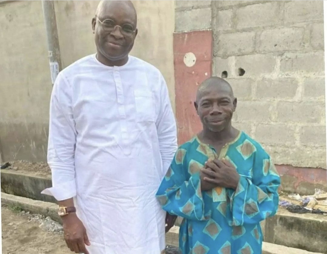 Ex-governor, Ayo Fayose shares interesting photo of man who many refer to as 'Obasanjo'