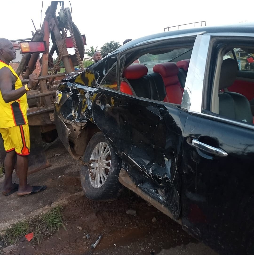 Destiny Etiko and colleagues survive car accident while returning from colleague, Stanley Okoro