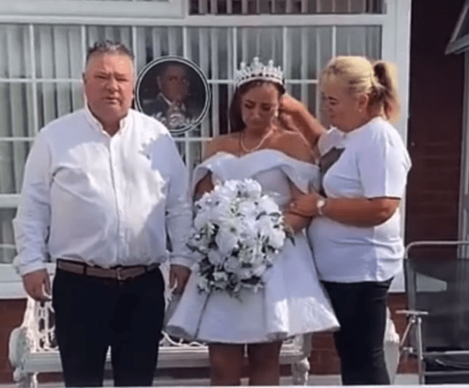 Grieving bride-to-be wears her wedding dress to fiance