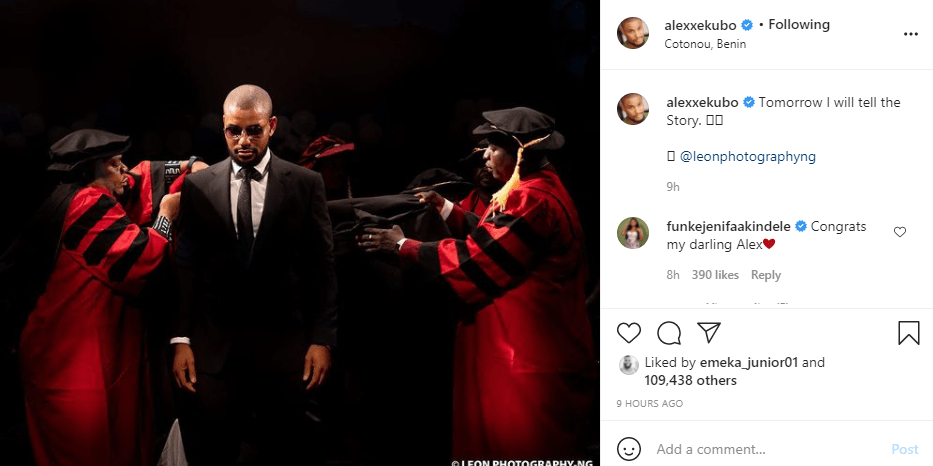 Actor Alex Ekubo shares first Instagram post after failed engagement