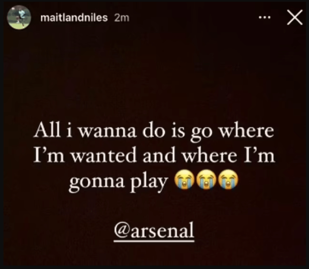 Ainsley Maitland-Niles is banished from Arsenal first-team training after publicly calling out the club for blocking his deal to Everton