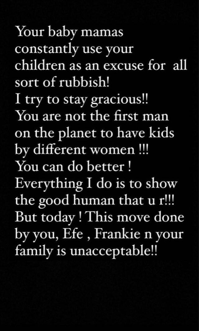 Annie Idibia slams husband, Tuface Idibia, his family, and his children