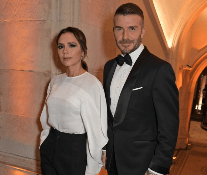 David Beckham pulls his swimming trunks down and flashes his bum in photo posted by wife Victoria Beckham