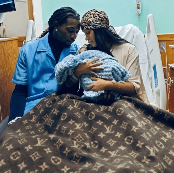 Cardi B and husband Offset welcome their second child, a baby boy