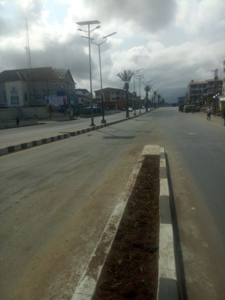 Empty streets as Owerri residents obey IPOB total lockdown order during President Buhari