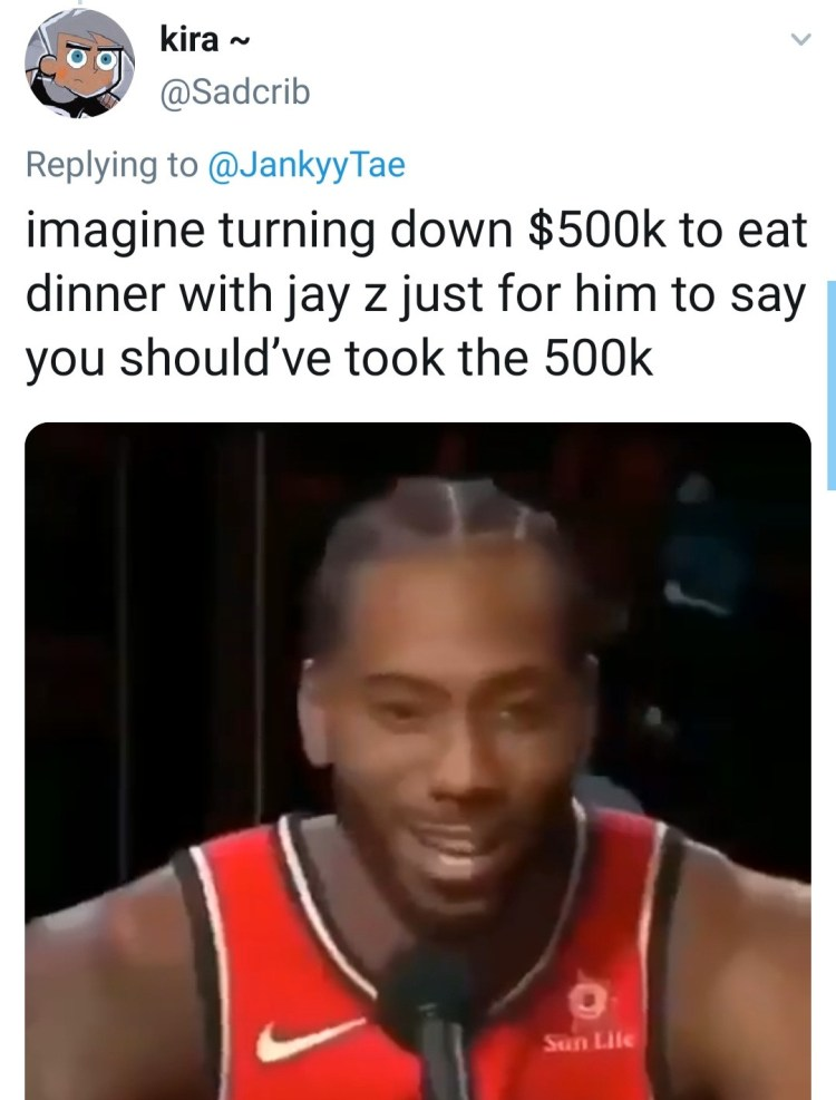 """""""Take the 500K"""" Jay-Z tells those picking dinner with him over $500K"""