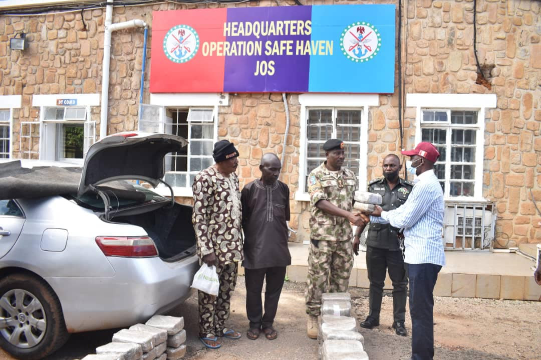 Ex-army officer, one other arrested with N7.5m worth of Indian hemp as troops bust drug syndicate in Kaduna