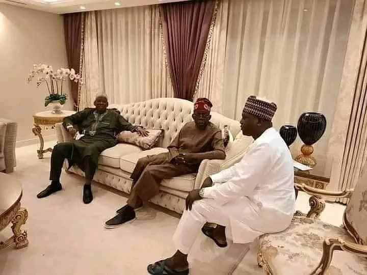 Kano state governor, Umar Ganduje, visits APC national leader, Bola Tinubu, in London