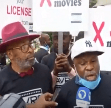 Jide Kosoko, Fred Amata, Yemi Solade lead protest against Raddison Blu over alleged refusal to pay for use of their intellectual properties in their different branches