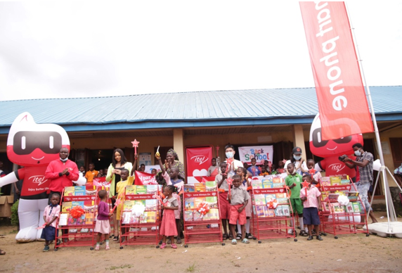 Back to School with itel: itel Donates Educational Materials To Schools in Lagos With Nengi