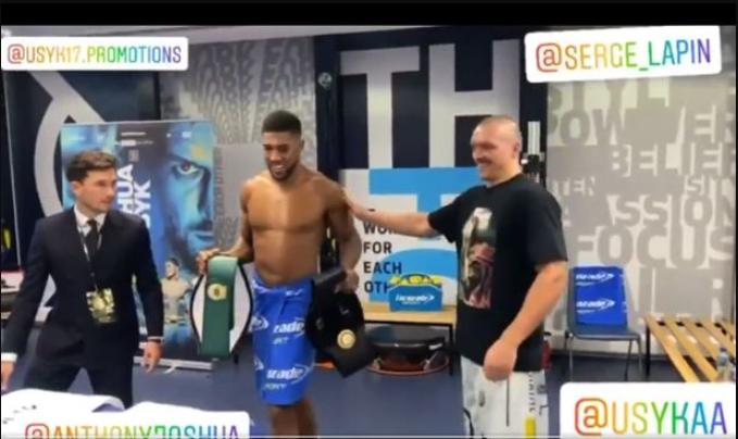Oleksandr Usyk returns Anthony Joshua