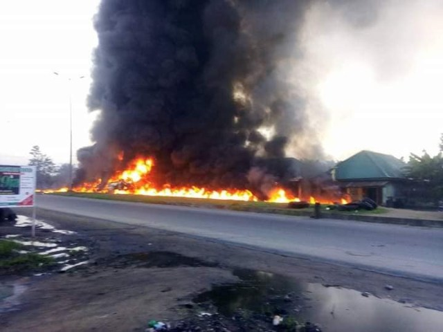 Many feared dead, properties burnt as petrol tankers explode in Rivers state (photos)