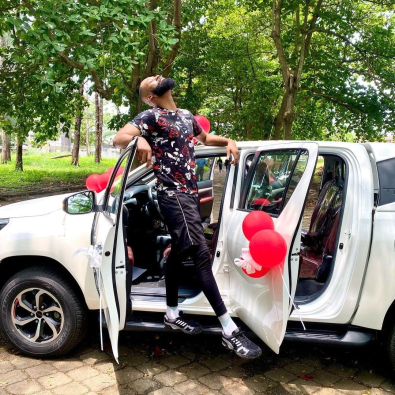 BBNaija star, Tochi receives car gift days after troll described him as a failure for not owning one