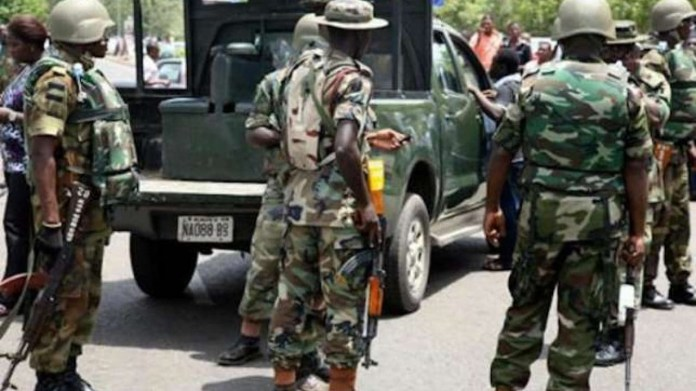 Police officer and three gunmen killed as troops repel attack at a checkpoint in Anambra