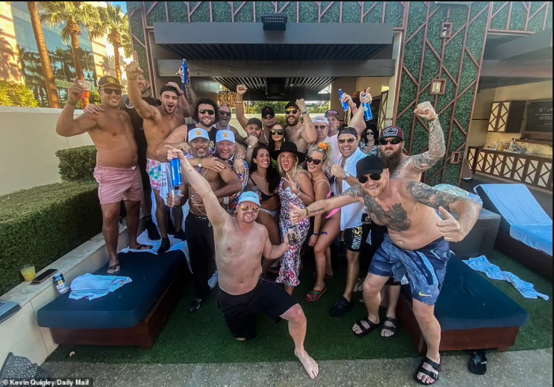 Tyson Fury takes his post-fight celebrations to the pool as he parties with wife and DJ Steve Aoki after his win against?Deontay Wilder (Photos)