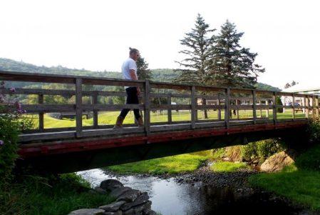 Man Crossing the Bridge