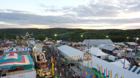 ferris wheel sunset county fair travel pennsylvania