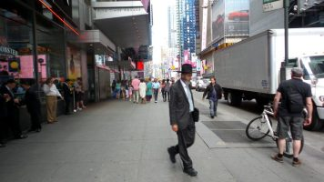 People Walking on the Streets of New York