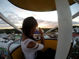 Alexis Chateau on the Ferris Wheel