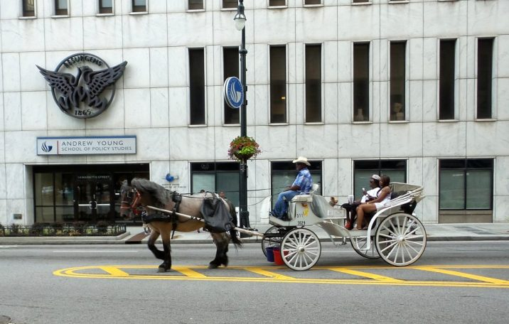 downtown atlanta horse carriage travel