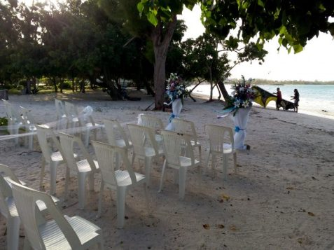 Wedding Setup at Good Hope Beach, Jamaica