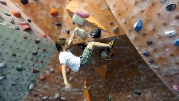 Biran Mott indoor rock climbing