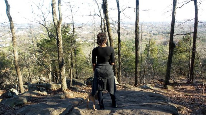 Standing on Top of Kennesaw Mountain - Alexis Chateau - hiking with dreads