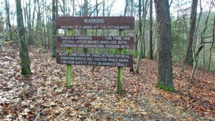 Warning Sign at Cloudland State Park