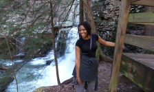 waterfall alexis chateau nature jamaican woman with dread cloudland canyon state park