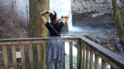 dreadlocks alexis chateau waterfall jamaican hiker