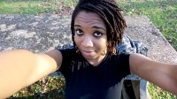 alexis chateau selfie jamaican woman with dreads traveller