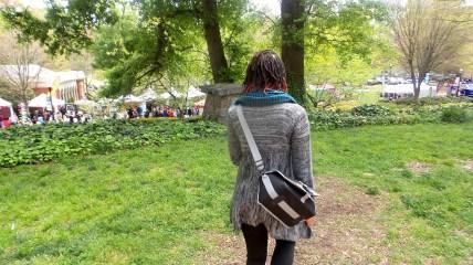 alexis chateau walking dreads scarf fashion dogwood festival