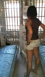 alexis chateau shorts dreads jamaican black woman