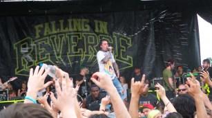 Ronnie Radke Performing with Falling in Reverse at Vans Warped Tour 2016