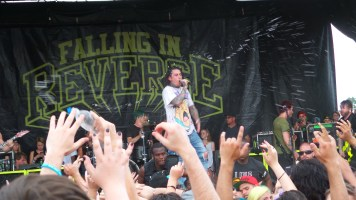 Ronnie Radke Performing with Falling in Reverse at Vans Warped Tour 2016