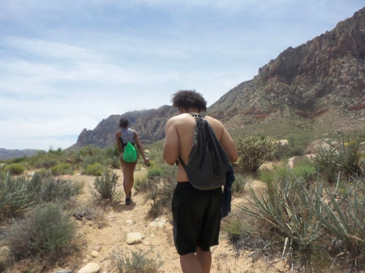 Alexis Chateau Trickster Hiking Red Rock Canyon.JPG