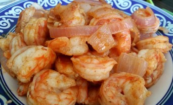 9 Cooked Spicy Shrimp