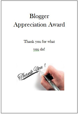 Thanks to Josh Gross for the Blogger Appreciation Award