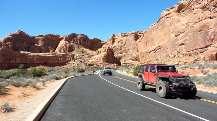 6 Jeeps at Arches National Park