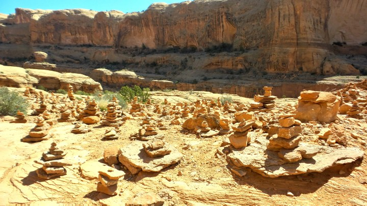 23 Graveyard of Cairns Corona Arches Hiking Trail Utah