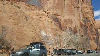 47 Moab Desert Roadside Rock Climbing