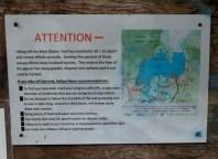 04 West Glacier Trail Mendenhall Glacier Warning Sign