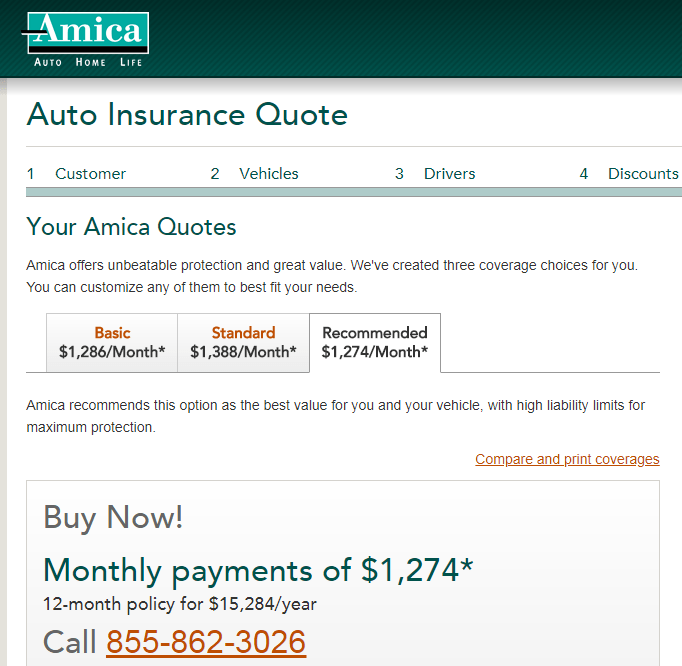 Amica Car Insurance Quote 1300 Plus