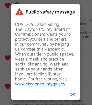 Clayton County Georgia Emergency Warning