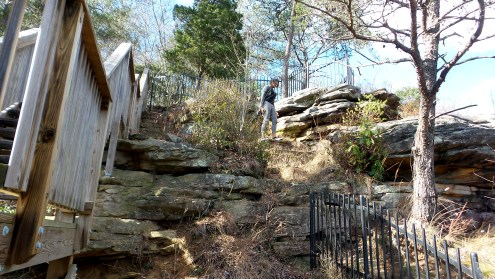 hiking trail rocks travel nature